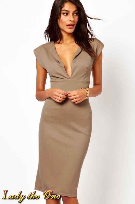 Платье с в-образным вырезом фото